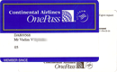 Continental Airlines — One Pass