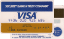 Visa — Security Bank & Trust Company